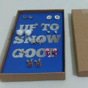 Up To Snow Good Holiday Earrings New